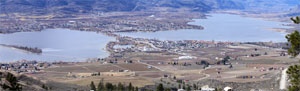 Osoyoos between winter and spring  from the east